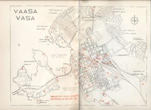 Vaasan Keskustan Kartta 1958 Vasaensis